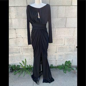 Gladys Pia Perey black stretch gown size 4